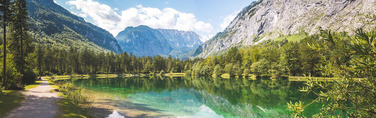 Scenic nature landscape scenery Bluntautal in Austria, summer time