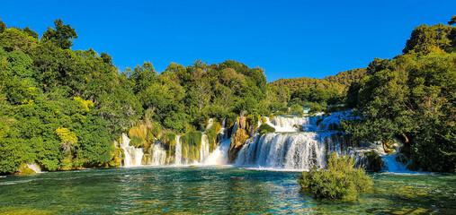 Obraz Krka Waterfalls - fototapety do salonu