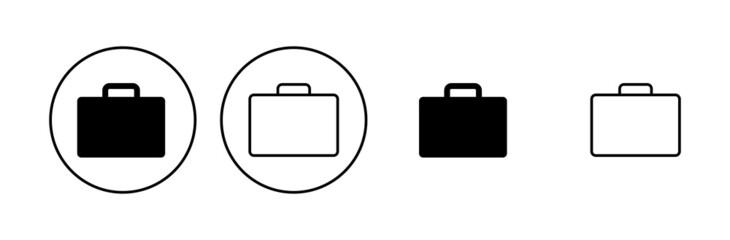 Fototapeta Briefcase icon set. suitcase icon. luggage symbol. obraz