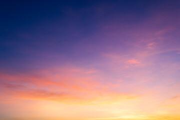 Fototapeta sunset sky with clouds obraz