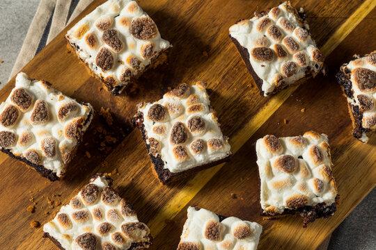 Sugary Homemade Chocolate Smores Brownies