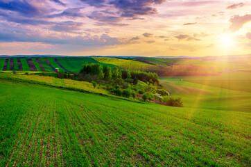 Landelijk lentelandschap