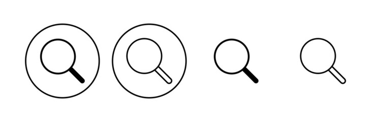 Obraz Search icon set. search magnifying glass icon - fototapety do salonu