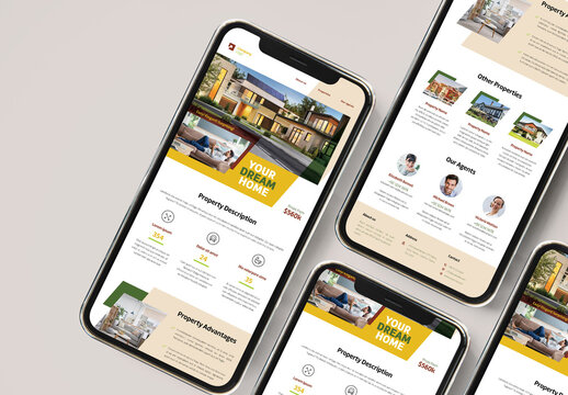 Real Estate Newsletter with Yellow and Green  Accents