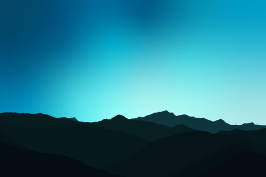 Dark Mountain Background Illustration Design. This type of design is used as a background for various games, such as Angry Birds games etc.