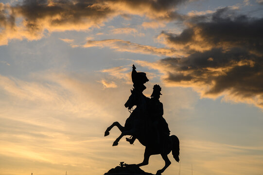 Statue of Horseman Vienna