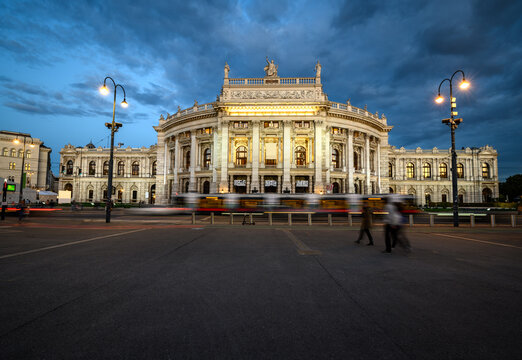 The Burgtheate is the national theater of Austria in Vienna