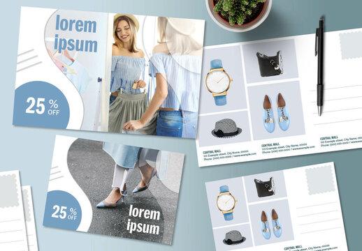 Product Sale Postcard Layout