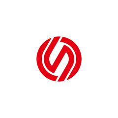 Fototapeta letter os circle motion simple geometric line logo vector obraz