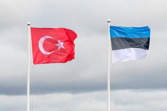 Flag of Estonia and Turkey