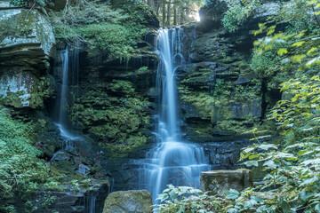 Fototapeta Buck falls romantic waterfall near Starrucca Pennsylvania in Wayne Country USA obraz