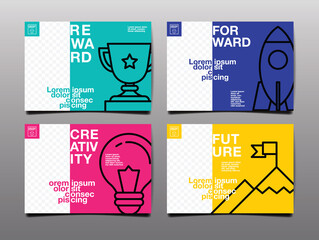 annual report ,future, business, template layout design, cover book. vector illustration , presentation abstract flat background