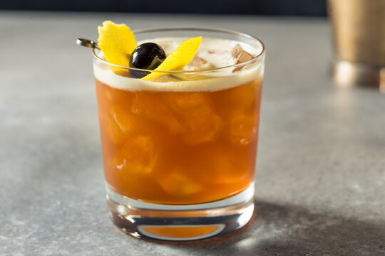 Boozy Refreshing Cold Amaro Sour