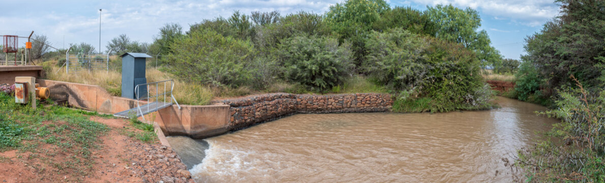 Canal outlet at end of the Orange-Fish River Tunnel