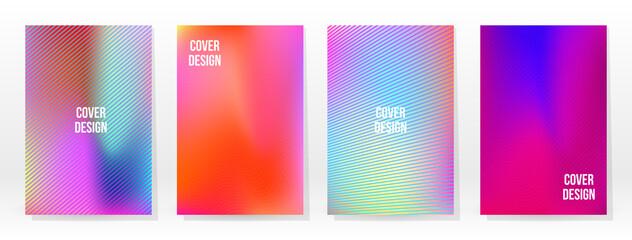 Obraz Minimal Poster. Pastel Soft. Rainbow Gradient Set - fototapety do salonu