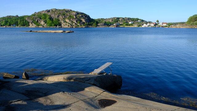 Norwegian coastline and bays, Vestfold, Norway