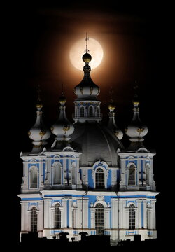 A view shows the Smolny Cathedral in Saint Petersburg