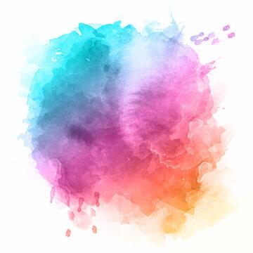 Colourful watercolour splatter design