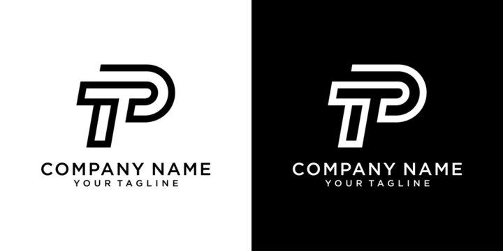 TP or PT Letter Logo Design Template Vector.