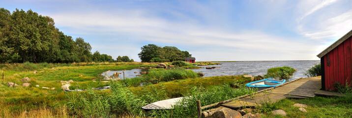 przystań nad morzem bałtyckim, Szwecja