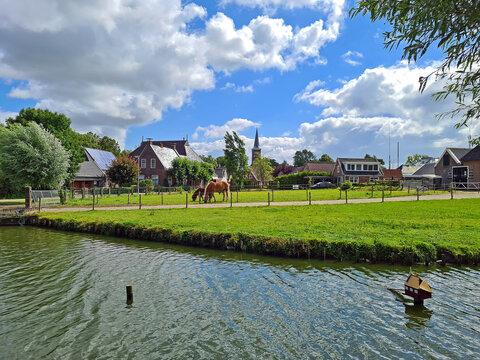The village Ternaard in Friesland in the Netherlands