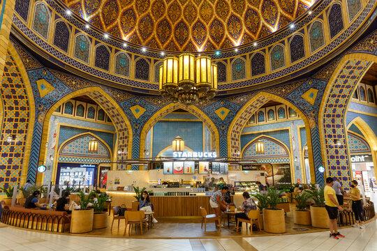 Ibn Battuta Mall Dubai Starbucks Coffee Luxury Shopping Center in the United Arab Emirates