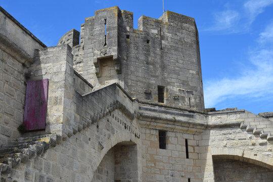 Rempart, detail, Aigues Mortes, Aigas-mòrtas, Occitanie, France