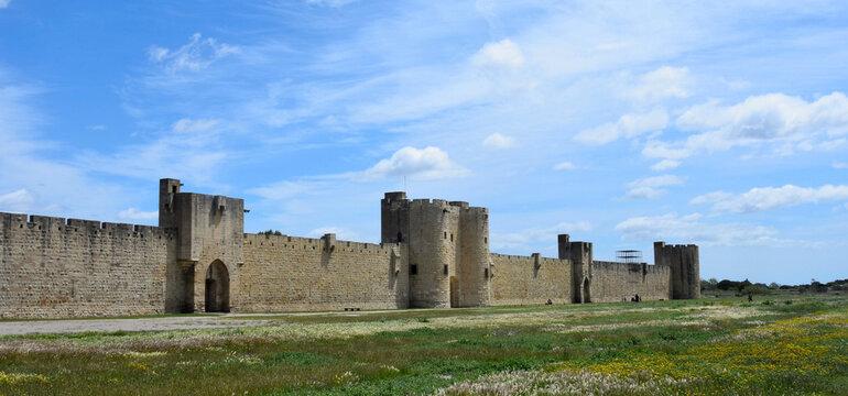 Rempart, Aigues Mortes, Aigas-mòrtas, Occitanie, France