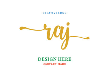 Obraz RAJ lettering logo is simple, easy to understand and authoritative - fototapety do salonu