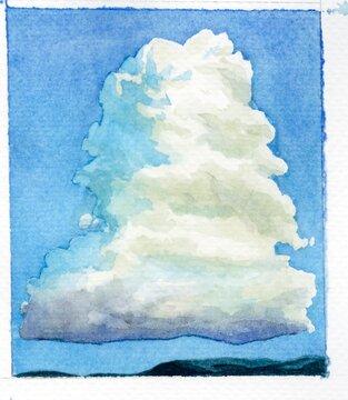 Cumulonimbus cloud, illustration