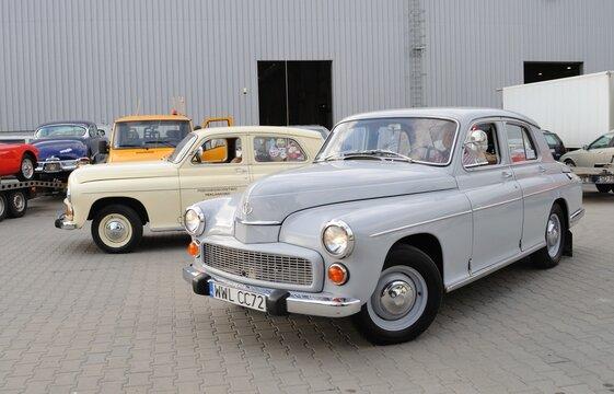 Warsaw, Poland - May 29, 2011: FSO Warszawa 223 sedan on display at the classic car exhibition MOTO NOSTALGIA.