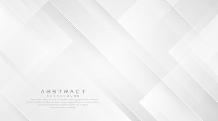 White abstract geometric shapes background. Modern simple square geometric pattern creative design. Minimal style geometric shapes texture graphic elements with diagonal line. Vector illustration