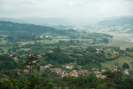 Country landscape in Asturias, Spain
