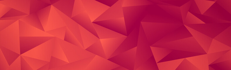 Abstract red gradient triangles of different sizes - Vector