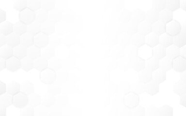 Hexagon background. Minimal light design. White neutral honeycomb backdrop. Clean web template. Simple hexagonal wallpaper. Vector illustration