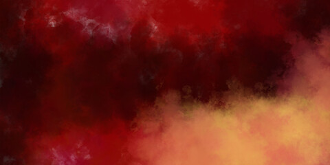 Obraz Warm orange and red mist blurred background with faint texture, Thanksgiving or autumn colors in gradient to deep dark center design, elegant classy apocalyptic website banner or header - fototapety do salonu