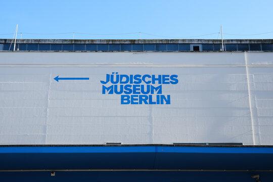 BERLIN, GERMANY - Aug 24, 2021: Signpost, Jewish Museum