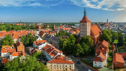 Obraz Olsztyn-katedra i Stare Miasto - fototapety do salonu