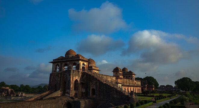 Jahaz Mahal Palace in Royal Complex, Mandu, Madhya Pradesh, India