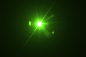 lens flare effect on black blackground