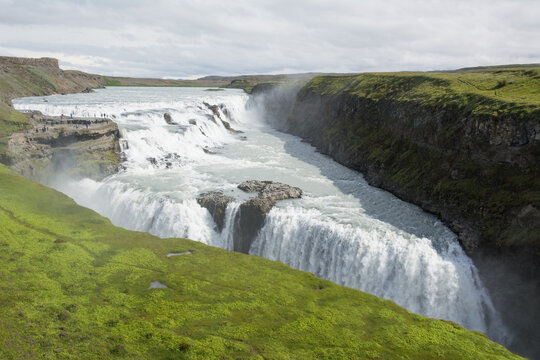 Gullfoss is one of Iceland's most iconic waterfalls