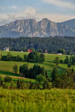 Giewont - mountain range in the Western Tatras.