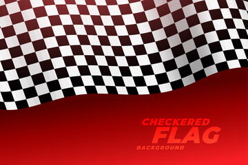 3d realistic racing flag checkered background