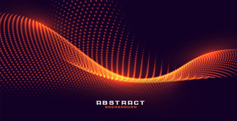 glowing particles background with orange golden light effect