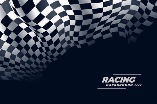 3d realistic checkered racing flag background