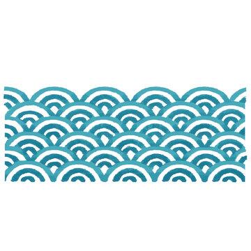 日本の伝統柄 青海波 波