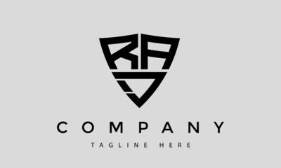 Obraz RAJ letters creative logo with shield - fototapety do salonu