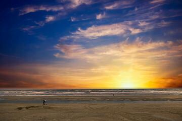North Sea Beach at Noordwijk aan Zee, South Holland Province, The Netherlands