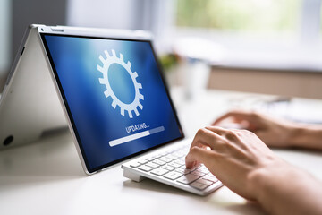 Fototapeta Business Computer Online Update obraz