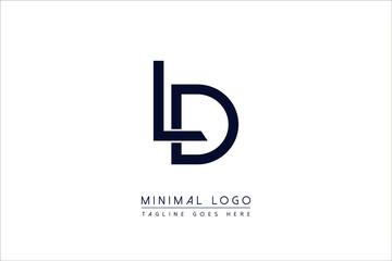 Obraz LD OR DL Or L AND D initial minimal monogram letter alphabet logo design - fototapety do salonu